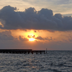 Photo of the Week – Ambergris Caye Beach Sunset