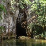 Canoeing through Barton Creek Cave, Belize