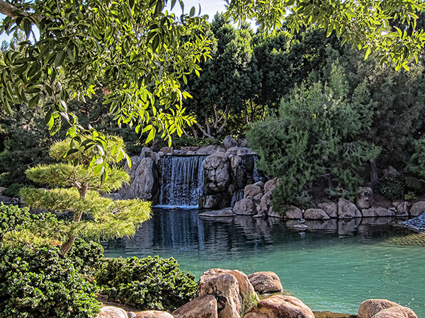 Photo of the japanese friendship garden waterfall for Garden of the phoenix