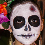 Celebrating Day of the Dead in Merida, Mexico